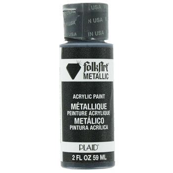 Sequin Black Metallic Acrylic Paint